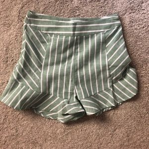 Pants - Light green flowy shorts